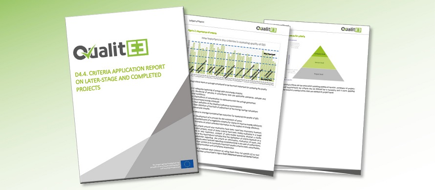 QualitEE Publishes Criteria Application Report on Later-Stage and Completes Projects