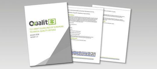 QualitEE публикува проект на Насоки за европейски технически критерии за качество на ЕЕУ