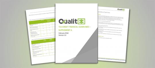 V rámci projektu QualitEE byl jako součást přípravy na diskuzní workshopy v Bruselu publikován návrh finančních pravidel pro oblast energetických služeb