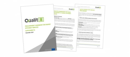 QualitEE Publishes New Procurement Handbook for Energy Efficiency Services